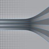Scheefgetrokken gestreepte lijnen Stock Foto