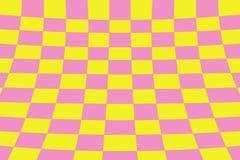 Scheefgetrokken perspectief gekleurd het effect van de controleursraad geel en roze net stock illustratie