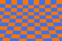 Scheefgetrokken perspectief gekleurde het effect van de controleursraad netsinaasappel en blauw royalty-vrije illustratie