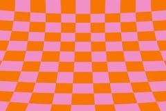 Scheefgetrokken perspectief gekleurde het effect van de controleursraad netsinaasappel en roze royalty-vrije illustratie
