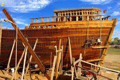 Scheepsbouw in Gujarat, India Royalty-vrije Stock Fotografie
