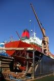 Scheepsbouw, scheepsreparatie Royalty-vrije Stock Foto's