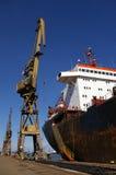 Scheepsbouw, scheepsreparatie Stock Foto
