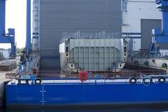 Scheepsbouw in scheepswerf Royalty-vrije Stock Foto