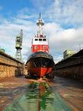 Scheepsbouw, schipreparatie Stock Foto's