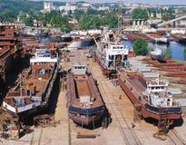 Scheepsbouw, schipreparatie Stock Afbeelding