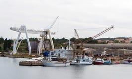 Scheepswerf en de dienst voor schepen stock foto's