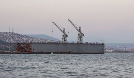 Scheepswerf in Izmir stock foto