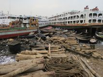 scheepswerf, Keraniganj, Dhaka, Bangladesh stock foto