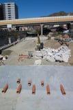 Scheepswerf op de Rivier Stock Afbeelding