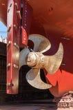Scheepswerf - schip in het dok Stock Foto's