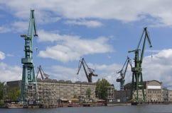 Scheepswerf van Gdansk. Polen. Royalty-vrije Stock Afbeelding