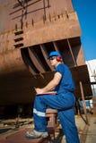 Scheepswerfarbeiders royalty-vrije stock afbeelding