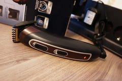 Scheerapparaat voor het scheren en kapsels, details en close-up royalty-vrije stock fotografie