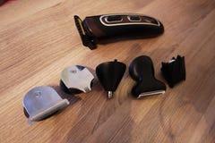 Scheerapparaat voor het scheren en kapsels, details en close-up stock foto