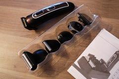 Scheerapparaat voor het scheren en kapsels, details en close-up stock afbeelding
