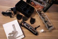 Scheerapparaat voor het scheren en kapsels, details en close-up royalty-vrije stock foto