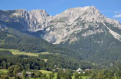 Scheffau en el Tyrol, Austria Foto de archivo libre de regalías