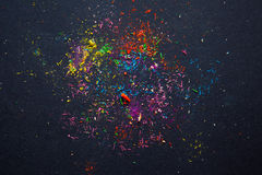 Schegge colorate dalla penna di taglio Immagine Stock