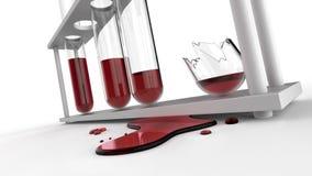 Scheggia dei tubi rotti del sangue Fotografie Stock