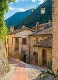 Scheggino, idyllic village in the Province of Perugia, in the Umbria region of Italy. royalty free stock photos