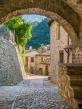 Scheggino, idyllic village in the Province of Perugia, in the Umbria region of Italy. stock photo