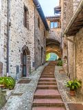 Scheggino, idyllic village in the Province of Perugia, in the Umbria region of Italy. royalty free stock photography