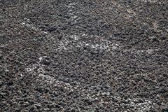 scheiße Trocknende Rückstände in Düngemittel See für trocknendes Abwasser Lassen Sie Exkremente ab Stockfoto