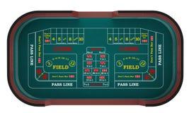 Scheißt Tabelle in einem Kasino Stockfotografie
