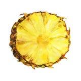 Scheibe der frischen Ananas Stockbilder