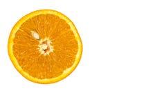 Scheibe der frischen Orange mit Samen stockfotografie