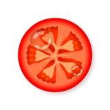 Scheibe der frischen Tomate Lizenzfreies Stockbild