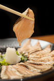 Scheibe der geräucherten Lachse Stockfotos
