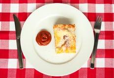 Scheibe der Lasagne Stockbild