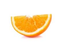 Scheibe der orange Frucht lokalisiert auf dem weißen Hintergrund Stockfoto