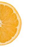 Scheibe der Orange. getrennt auf Weiß. Lizenzfreie Stockfotos