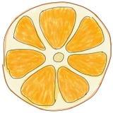 Scheibe der Orange, Skizze f?r Men?entwurf, Aufkleber, Plakate lizenzfreie abbildung