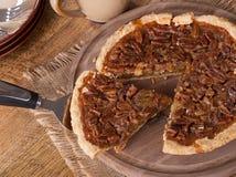Scheibe der Pekannuss-Torte Stockfoto