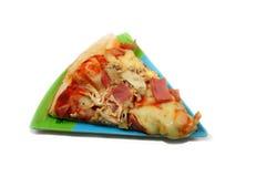 Scheibe der Pizza Stockfotografie