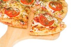 Scheibe der Pizza Lizenzfreie Stockfotos