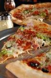 Scheibe der Pizza Stockbild