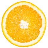 Scheibe der reifen Orange lokalisiert auf Weiß Stockbild