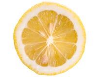 Scheibe der sauren reifen Zitrone Stockbild