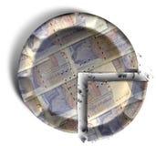 Scheibe der Torte des britischen Pfunds Lizenzfreies Stockfoto