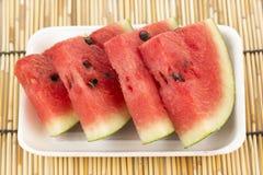 Scheibe der Wassermelone Lizenzfreie Stockbilder