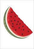 Scheibe der Wassermelone lizenzfreie abbildung