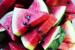 Scheibe der Wassermelone auf Diskette lizenzfreie stockfotografie