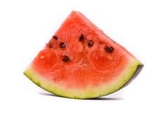 Scheibe der Wassermelone auf einem Weiß Stockbilder
