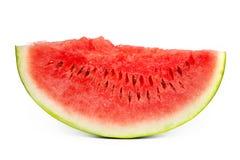 Scheibe der Wassermelone getrennt auf Weiß Stockfoto