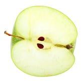 Scheibe des frischen grünen Apfels Lizenzfreie Stockbilder